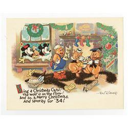 Disney Studio Christmas Card for 1933.