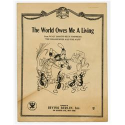 """The World Owes Me a Living"" Sheet Music."
