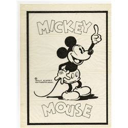 Original Mickey Mouse Inked Publicity Drawing.
