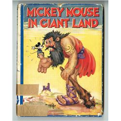 """Mickey Mouse in Giantland"" Hardcover Book."