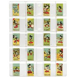 Mickey Mouse Premium Trading Cards.