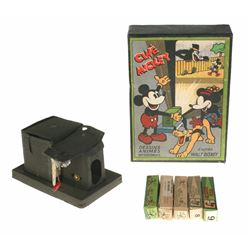 French Cine Mickey Lantern with Box and Slides.
