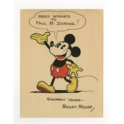 Mickey Mouse Studio Fan Card.