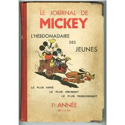 "Hardcover Collection of ""Le Journal de Mickey""."