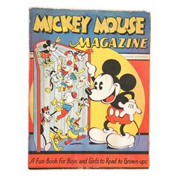 Four (4) Early Issues of Mickey Mouse Magazine