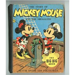 """The Story of Mickey Mouse and the Smugglers"" Hardcover Book."