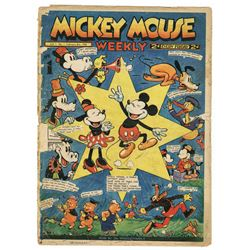 "Collection of  (52) issues of ""Mickey Mouse Weekly""."