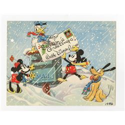 Disney Studio Christmas Card for 1936.