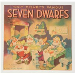 """Walt Disney's Famous Seven Dwarfs"" Softcover Book."