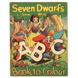 """Seven Dwarfs & Snow White ABC Book to Colour""."