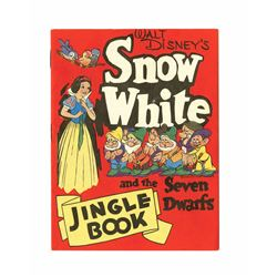 """Snow White and the Seven Dwarfs"" promotional Jingle Book."