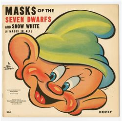 """Snow White and the Seven Dwarfs"" Masks."