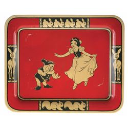 """Snow White and the Seven Dwarfs"" Tin Tray."
