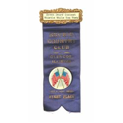 Seven Dwarf Contest First Place Ribbon.