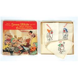 """Snow White and the Seven Dwarfs"" Handkerchiefs Set in Original Box."