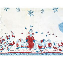 """Snow White and the Seven Dwarfs"" Embroidered Tablecloth."