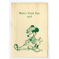 Walt's Field Day Program and Information Sheets.