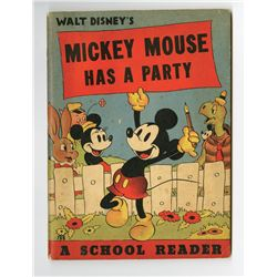 """Mickey Mouse Has A Party"" Book."