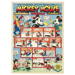 Collection of (54) Mickey Mouse Weekly Issues.