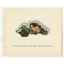 DIsney Studio Christmas Card for 1938.