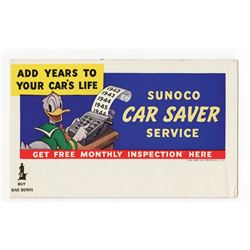Sunoco Promotional Ink Blotter.