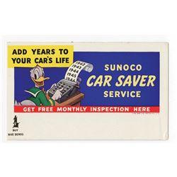 Sunoco Promotional Ink Blotter.