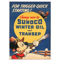 Sunoco Oil Company Advertising Display Poster.