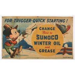 Sunoco Oil Banner.