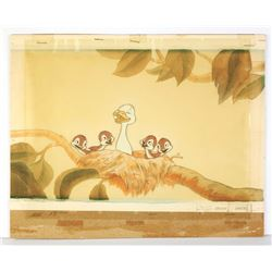 "Original Production Cel and Background from ""The Ugly Duckling""."