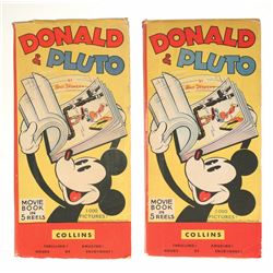 "Pair of Donald and Pluto ""Movie Books""."