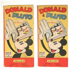 "Pair of Donald and Pluto ""Movie Books""."