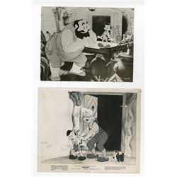 "Collection of (40) Publicity Photos for ""Pinocchio""."
