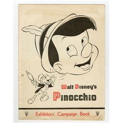 """Exhibitors' Campaign Book for """"Pinocchio""""."""
