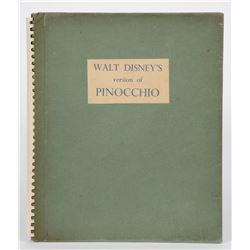 """Spiral Bound Limited Edition""""Pinocchio"""" Book."""