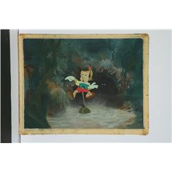 "Original Production Cel and Preliminary Background from ""Pinocchio""."