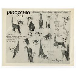 Early Studio Photostat Model Sheet Featuring Figaro.