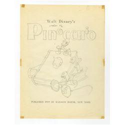 """Original Mock-Up for """"Pinocchio"""" Book."""