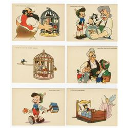 "Italian ""Pinocchio"" Postcard Set."