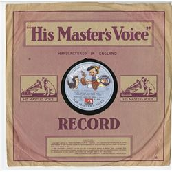 """Pinocchio"" British Three Record Set."
