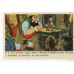 "Complete Set of French ""Pinocchio"" Postcards."