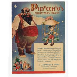 "Pair of ""Pinocchio's Christmas Party"" Promotional Books."