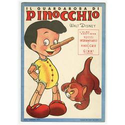 """Italian """"Pinocchio"""" Paper Doll Book."""