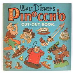 """Walt Disney's Pinocchio Cut-Out Book""."