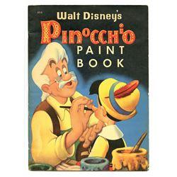 """Walt Disney's Pinocchio Paint Book""."