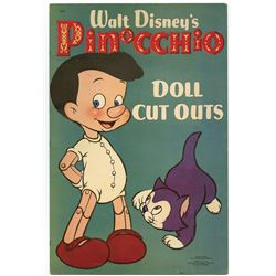 """Walt Disney's Pinocchio Doll Cut-outs"" Book."