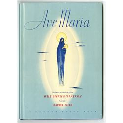 """Ave Maria"" Hardcover Book."