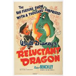 """The Reluctant Dragon"" One-Sheet Original Release Movie Poster"