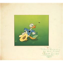 Walt Disney Signed Production Cel of Donald Duck.