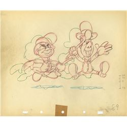 "Collection of (70) Original Ward Kimball Production Drawings from ""The Nifty Nineties""."