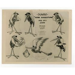 """Dumbo"" Stork Suggestions Studio Photostat Model Sheet."